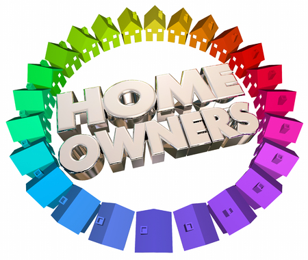homeowners: Home Owners Buyers Houses Association Neighborhood 3d Illustration