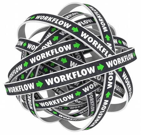 Workflow Process Procedure Loop Instructions 3d Illustration