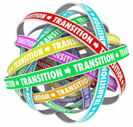 shifting: Transition Change Process Evolution Words Loops 3d Illustration