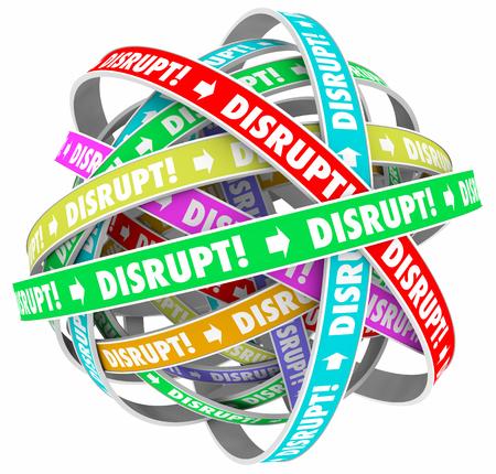 innovator: Disrupt Change Upset Status Quo Loop Process 3d Illustration
