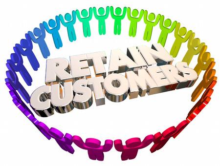 returning: Retain Customers Employees Retention Speedometer 3d Illustration