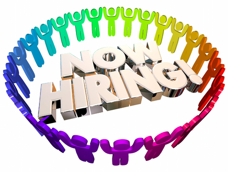 Now Hiring Open Job Positions Career People 3d Illustration