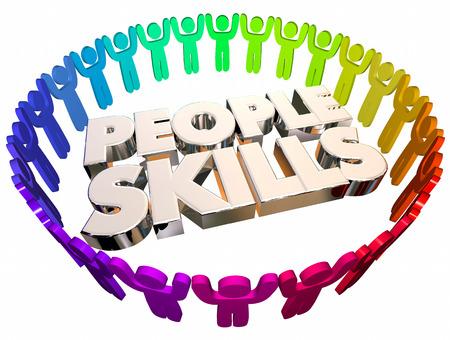 solve a problem: People Skills Communication Listening Words 3d Illustration