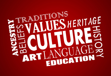 ancestry: Culture Heritage Diversity Language Word Collage 3d Illustration