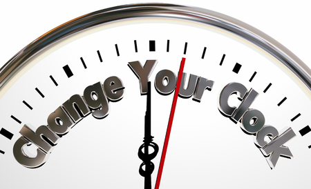 seconds: Change Your Clocks Turn Hands Back Forward Time 3d Illustration