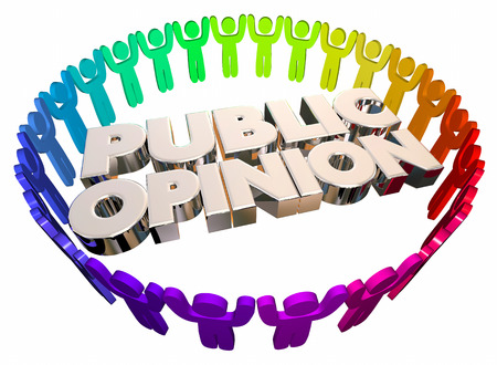 public opinion: Public Opinion Open Forum People Words 3d Illustration