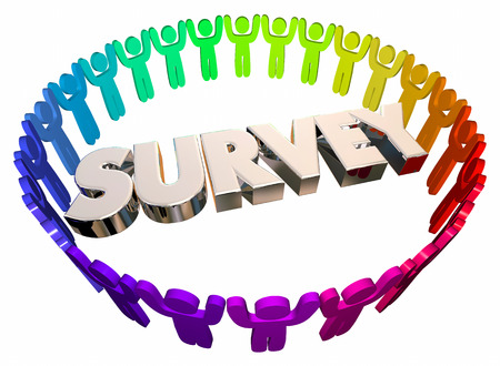 Survey Study Research People Word 3d Illustration Stock Photo