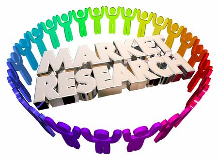 市場研究の人々 研究調査顧客 3 d イラストレーション 写真素材