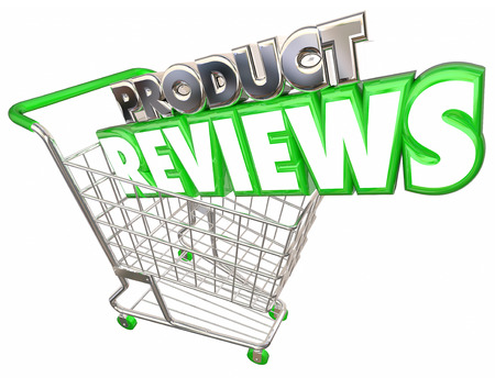 retailer: Product Reviews Shopping Cart Rate Purchase Customer 3d Illustration