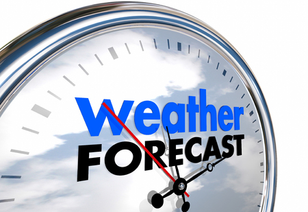 meteorologist: Weather Forecast Clock Time Planning Ahead 3d Illustration