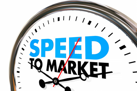 conceive: Speed to Market Fast Product Development Speedometer 3d Illustration