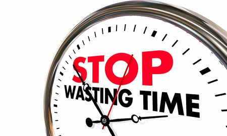 Stop Wasting Time Clock Lost Minutes Hours 3d Illustration