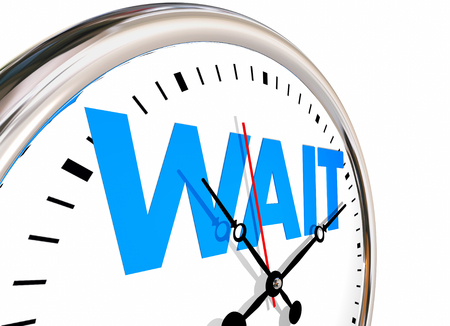 期間の時間時計を待つ 3 d イラストレーションの単語