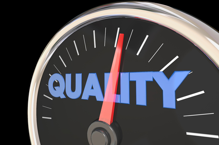 improving: Quality Improving Speedometer Top Level 3d Illustration Stock Photo