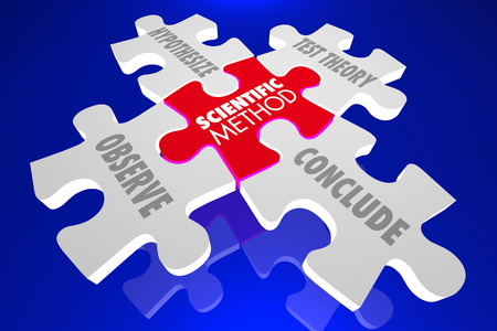 science scientific: Scientific Method Science Experiment Theory Puzzle 3d Illustration