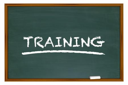 defined: Training Education Class School Chalk Board Learning 3d Illustration