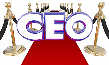 Chief Executive Officer CEO Red Carpet Event 3d Illustration
