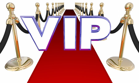 abbreviated: VIP Very Important Person Red Carpet Letters Event 3d Illustration