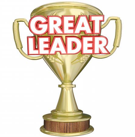 3d manager: Great Leader Manager Boss Superviser Trophy Prize Award 3d Illustration