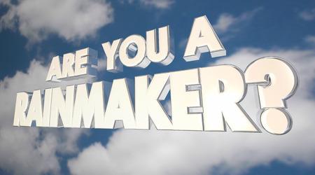 Sei 3d Illustrazione Rainmaker Grande Venditore Selling Expert