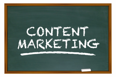 Content Marketing Chalk Board Words Learning 3d Illustration Stock Photo