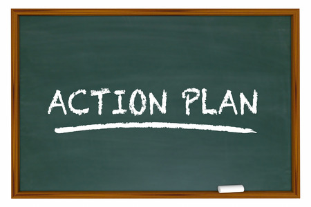 tactics: Action Plan Strategy Tactics Chalkboard 3d Illustration
