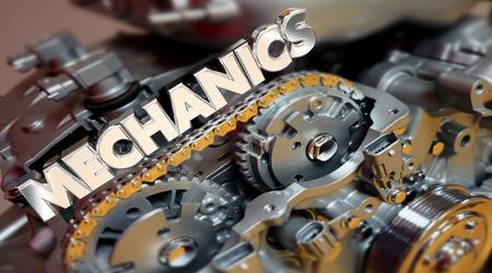 automotive technician: Mechanics Automotive Technician Job Engine 3d Illustration