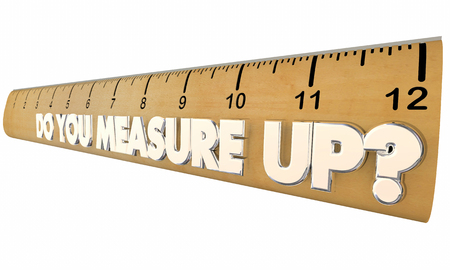 adequacy: Do You Measure Up Ruler Qualified Evaluation Review 3d Illustration