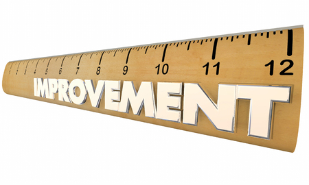 metrics: Improvement Process Measurement Metrics Ruler 3d Illustration