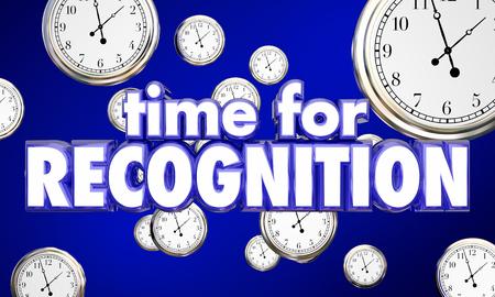Time for Recognition Appreciation Clocks Honor 3d Illustration