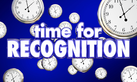 awarding: Time for Recognition Appreciation Clocks Honor 3d Illustration