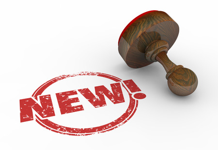stamped: New Latest Improved Product Round Red Stamp 3d Illustration
