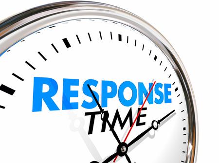Response Time Clock Fast Speed Dienst Aandacht 3d Illustratie Stockfoto