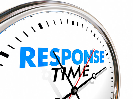 replying: Response Time Clock Fast Speed Service Attention 3d Illustration