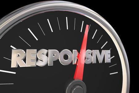 Responsive Speedometer Fast Service Attention 3d Illustration Stok Fotoğraf