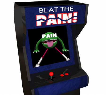 medicate: Beat Pain Treatment Medicate Feel Better Arcade Video Game 3d Illustration