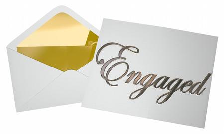 Engagiert Unsere Einladung Öffnungs Engagement Party 3d Illustration