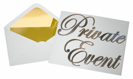 proclaim: Private Event Inviation Party Envelope Opening 3d Illustration