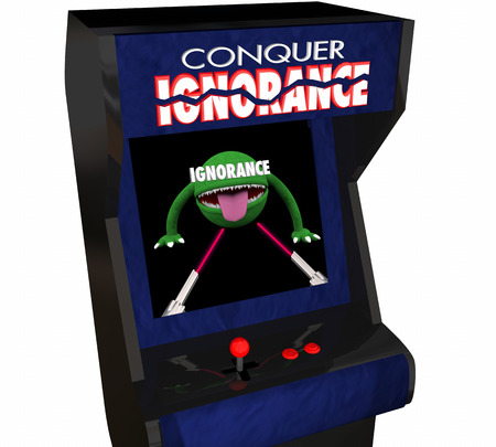 sharing: Beat Ignorance Conquer Defeat Raise Awareness Video Game 3d Illustration