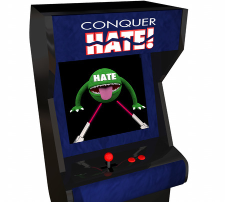 hatred: Conquer Hate Beat Defeat Hatred Love Peace Video Game 3d Illustration Stock Photo