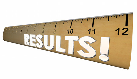 evaluated: Results Ruler Measure Output Word 3d Illustration Stock Photo