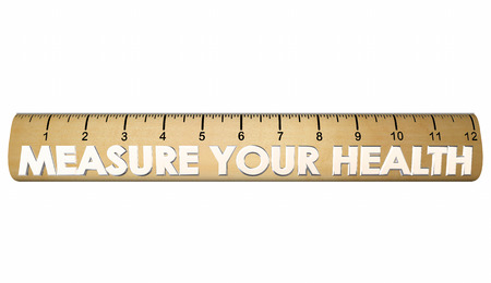 evaluated: Measure Your Health Wellness Fitness Ruler 3d Illustration