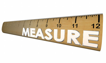 comparing: Measure Your Health Wellness Fitness Ruler 3d Illustration
