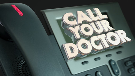 a physician: Call Your Doctor Phone Medical Help Advice Health 3d Illustration