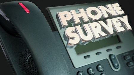 respondent: Phone Survey Ask Answer Questions Poll Respond 3d Illustration