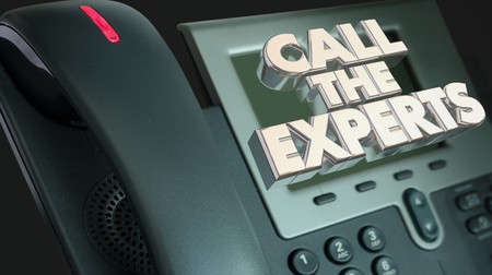 caller: Call the Experts Get Help Experience Phone 3d Illustration Stock Photo