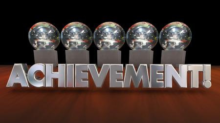 accomplishment: Achievement Awards Accomplishment Recognition 3d Illustration