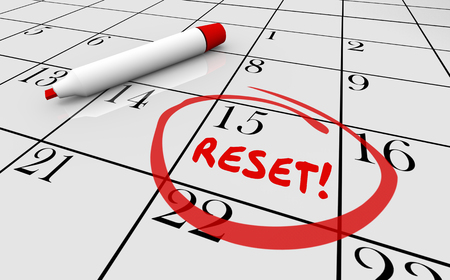 Reset Calendar Day Date Change New Start 3d Illustration Stock Photo