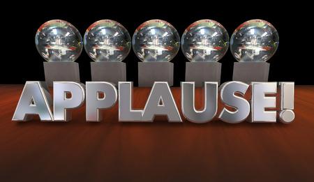 kudos: Applause Kudos Recognition Great Job Awards 3d Illustration