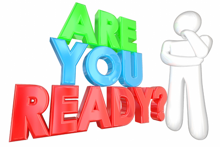 anticipating: Are You Ready Prepared Question Thinker 3d Illustration Stock Photo
